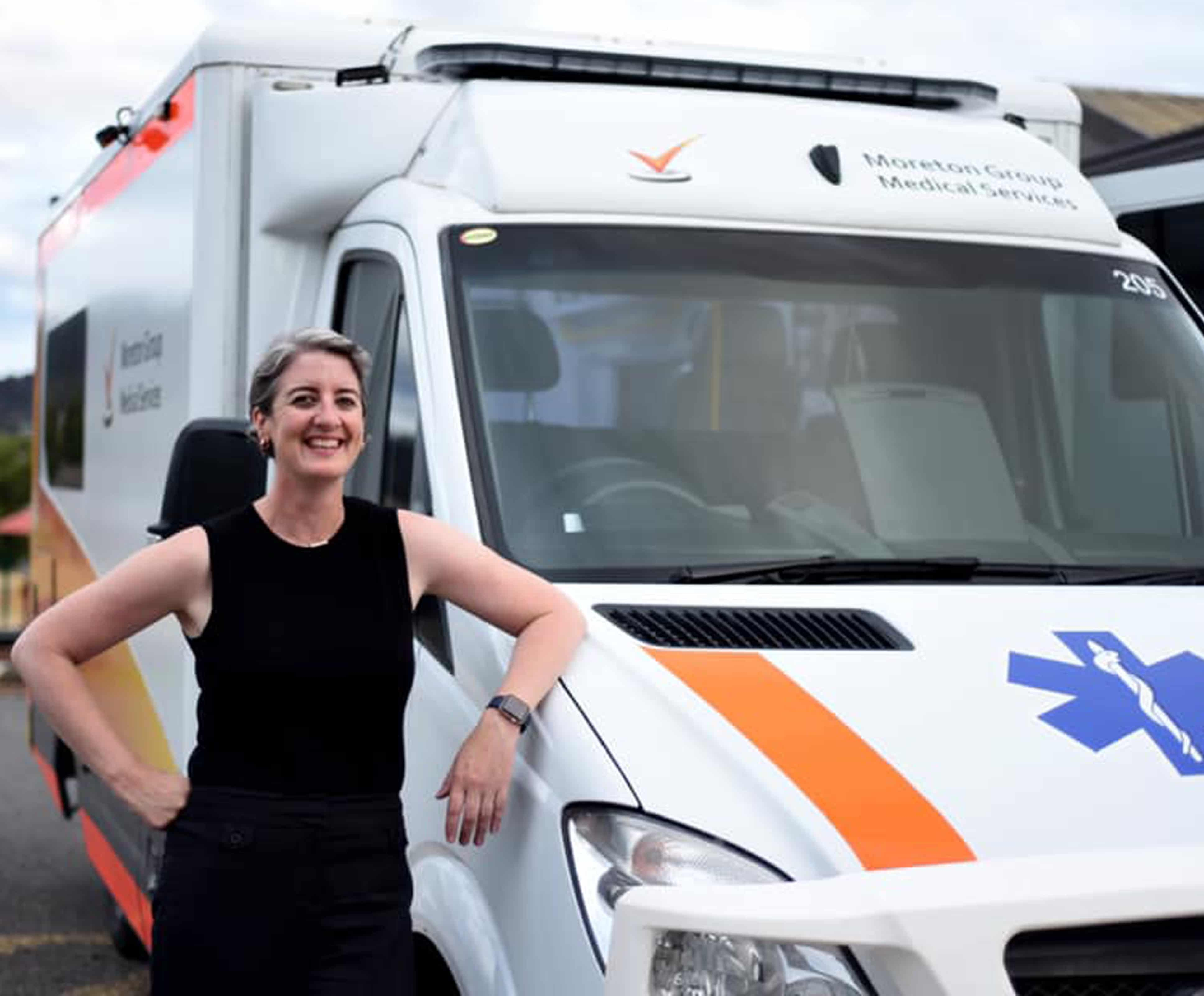 Dr Meg and mobile clinic